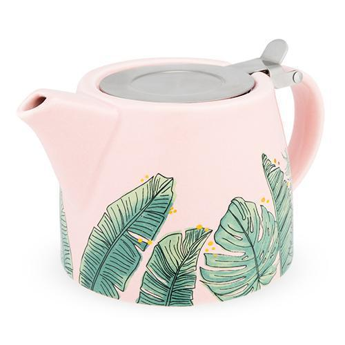 Harper Ceramic Teapot & Infuser-Home - Coffee + Tea - Teapot + Infusers-PINKY UP-Tropical-Peccadilly