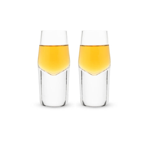 Heavyweight Crystal Shot Glasses (Set of 2)