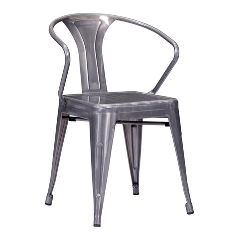 Helix Dining Chair Gunmetal (Set of 2)