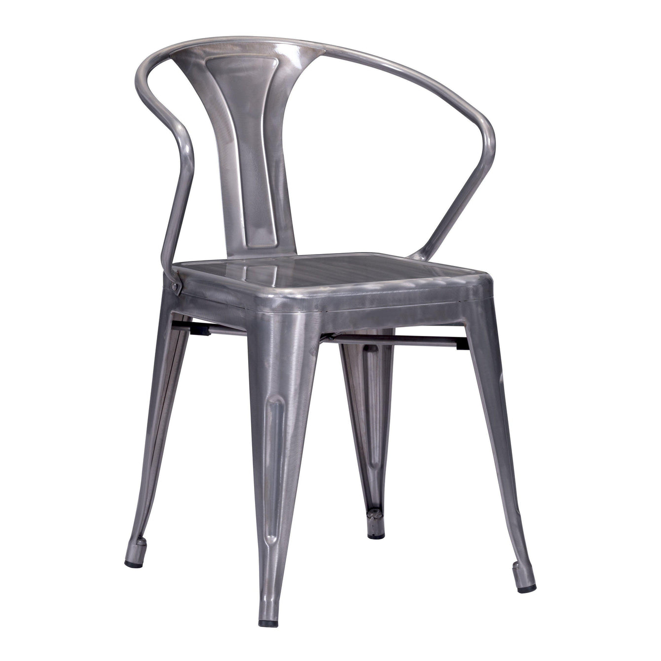 Helix Dining Chair Gunmetal (Set of 2)-Home - Furniture - Dining Chairs-ZUO MODERN-Peccadilly