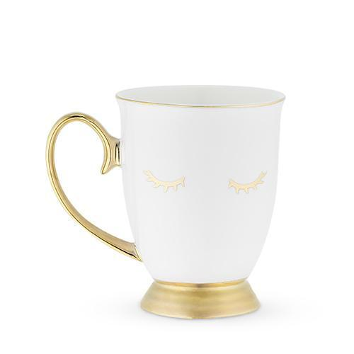 Holly Shut Eye Eyelash Mugs-Home - Coffee + Tea - Mugs-PINKY UP-White-Peccadilly