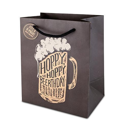 Hoppy Beerthday 6 Pack Bag-Home - Gifting - Bottle Bags-CAKEWALK-Peccadilly
