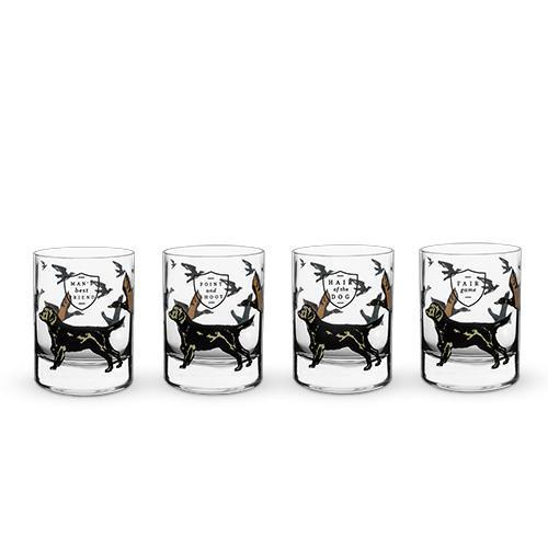 Hunting Dog Whiskey Glass Set-Home - Entertaining - Cocktail Glasses Sets-FOSTER AND RYE-Peccadilly