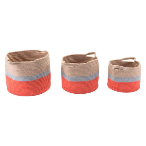 Ilesa Set Of 3 Jute Baskets With Handles