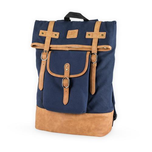 Insulated Canvas Cooler Adventure Backpacks-Home - Travel + Outdoors - Insulated Beverage Carriers-FOSTER AND RYE-Blue-Peccadilly