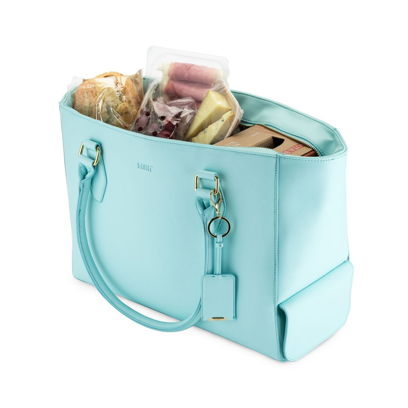 Insulated Cooler Wine Chiller Tote-Home - Travel + Outdoors - Insulated Beverage Carriers-BLUSH-Aqua-Peccadilly