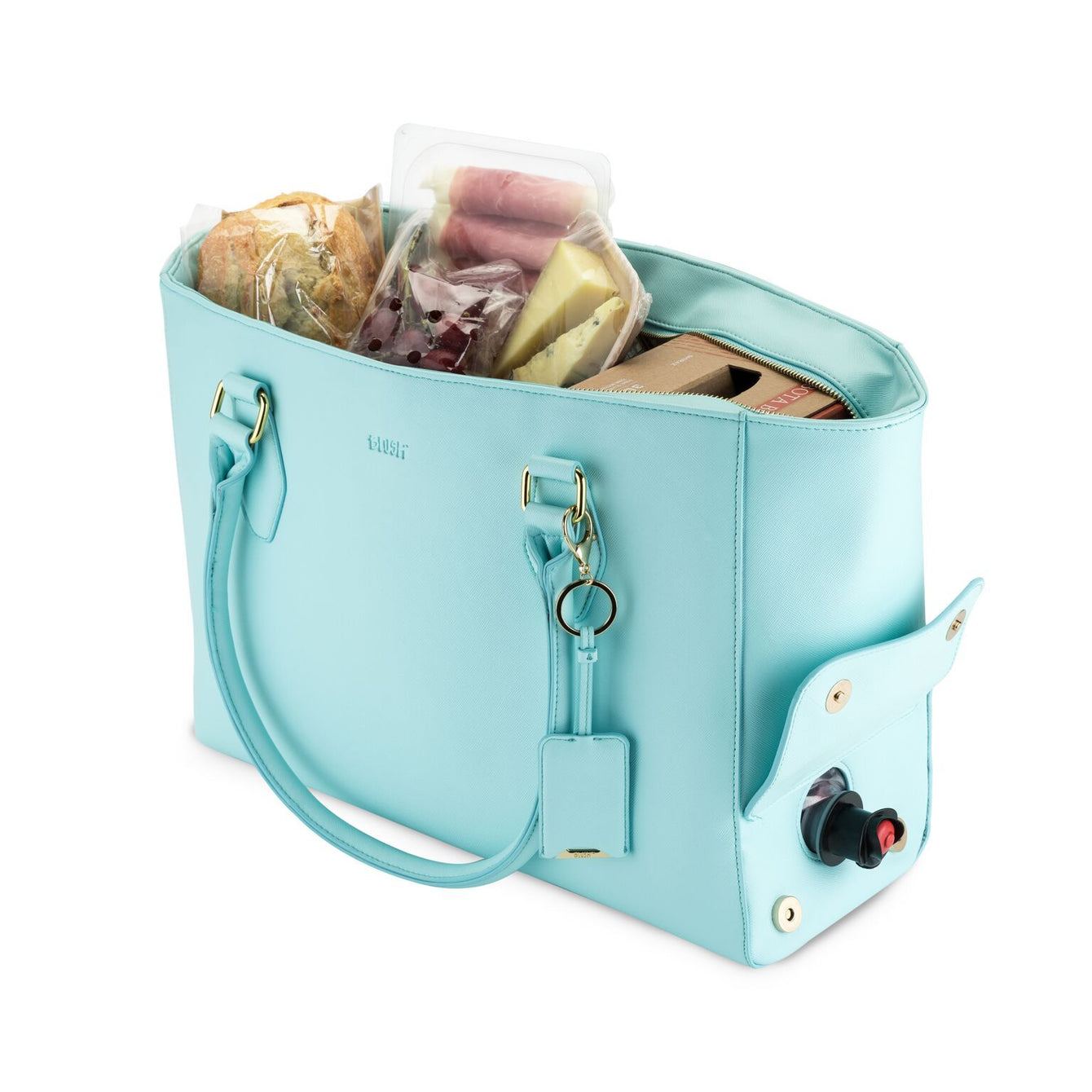 Insulated Cooler Wine Chiller Tote Aqua-Home - Travel + Outdoors - Insulated Beverage Carriers-BLUSH-Peccadilly