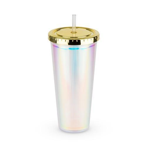 Iridescent Drink Tumbler-Home - Entertaining - Tumblers-BLUSH-Peccadilly