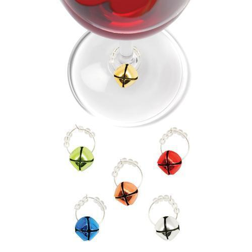 Jingle Holiday Wine Charms-Home - Entertaining - Drink Markers - Holiday-TRUE-Peccadilly