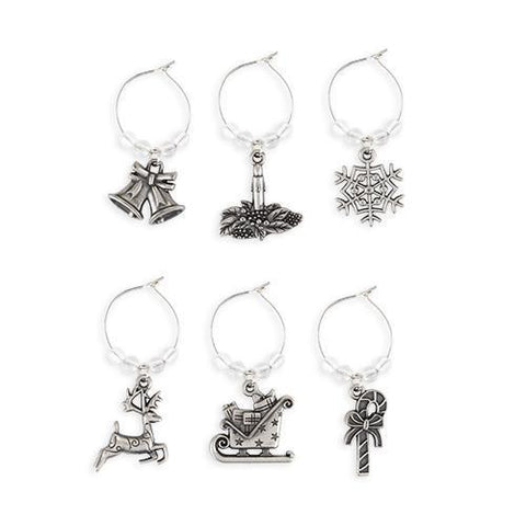 Jolly Holiday Wine Charms
