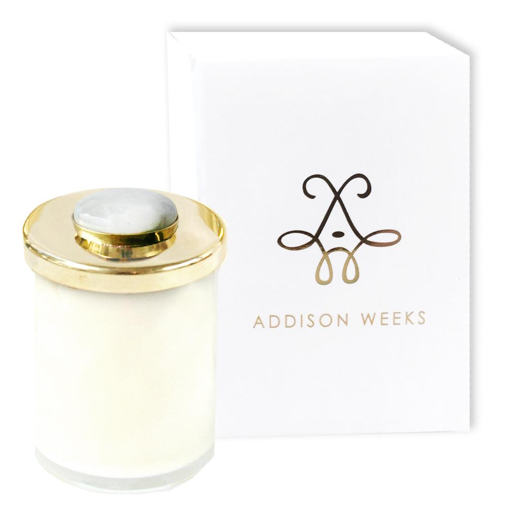 Genuine Gemstone Jar Candles Meadowgrass and Magnolia-Home - Decor - Candles-ADDISON WEEKS-Moonstone 3 oz.-Peccadilly