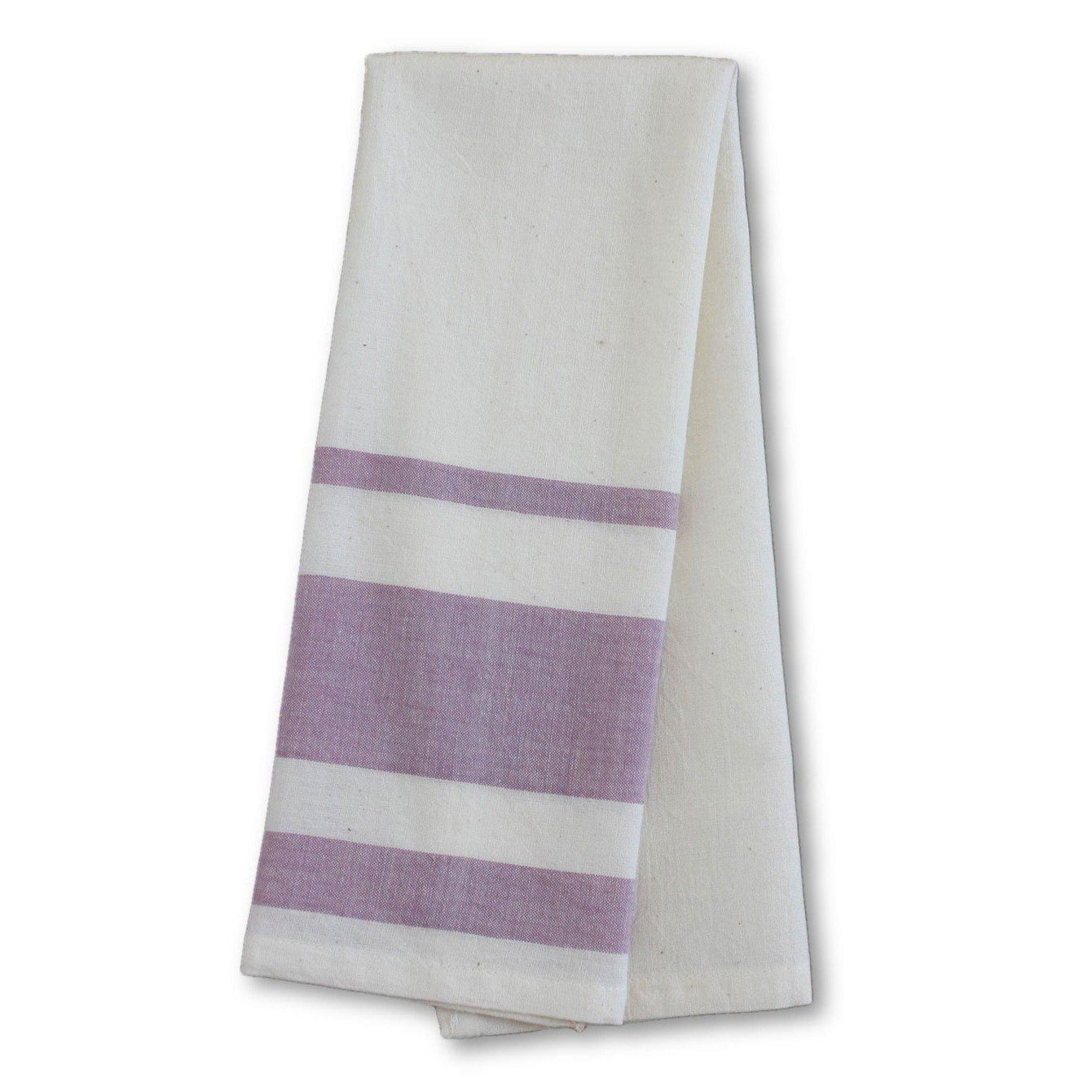 Lavender Cotton Tea Towels Set of 2-Home - Dining - Kitchen Towels-SUSTAINABLE THREADS FAIR TRADE-Peccadilly