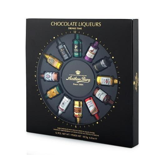 Liqueur Filled Chocolates Assorted 12-Piece-Home - Entertaining - Chocolates-TRUE-Peccadilly