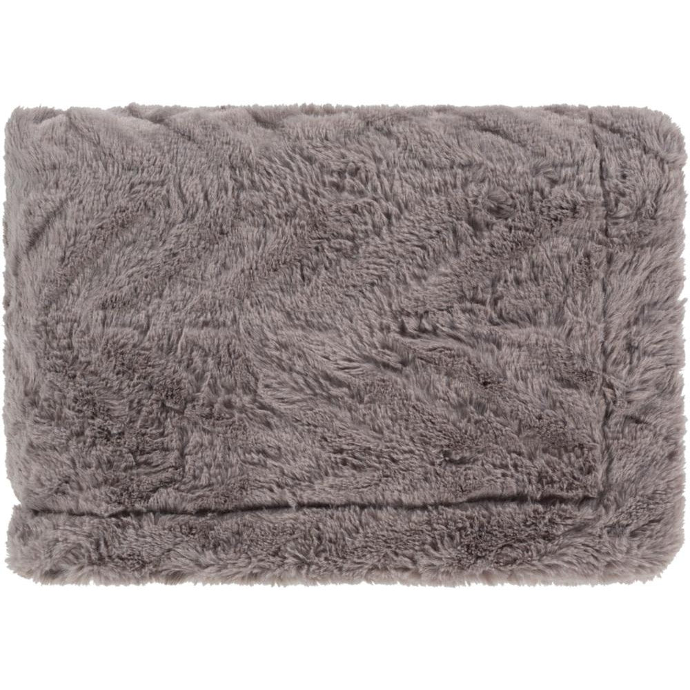 Lapin 50 x 60 Faux Fur Throw Blanket-Home - Accessories - Throw Blankets-SURYA-Grey-Peccadilly