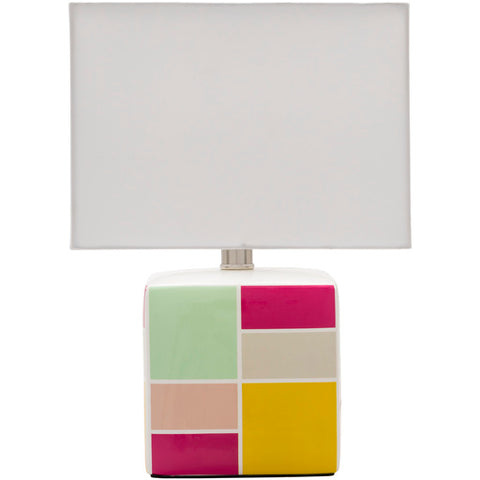 Latifah Geometric Color Block Table Lamp