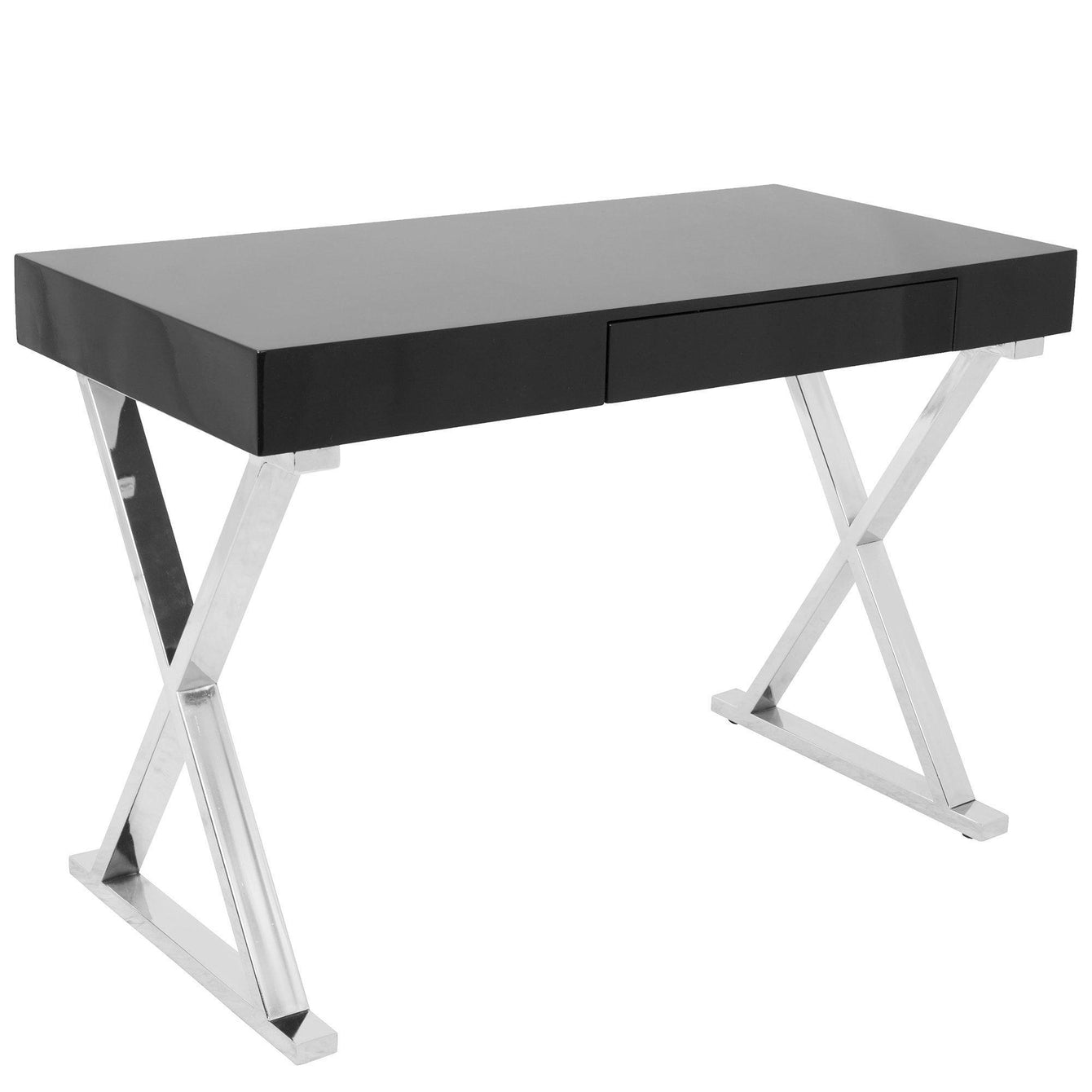 Luster Contemporary Desk in Black-LUMISOURCE-Peccadilly