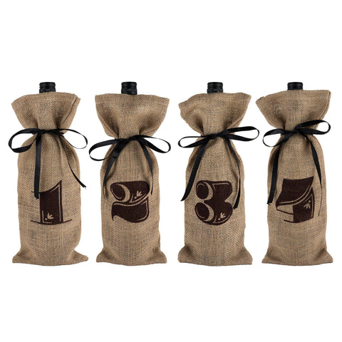 Marketplace Jute Bag Wine Tasting Kit Gift Bag Set