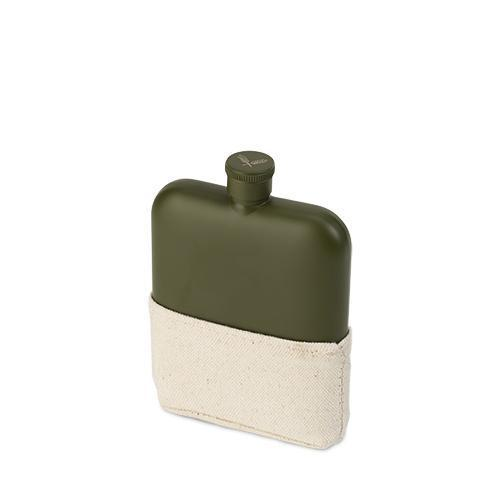 Matte Army Green Flask-FOSTER AND RYE-Peccadilly