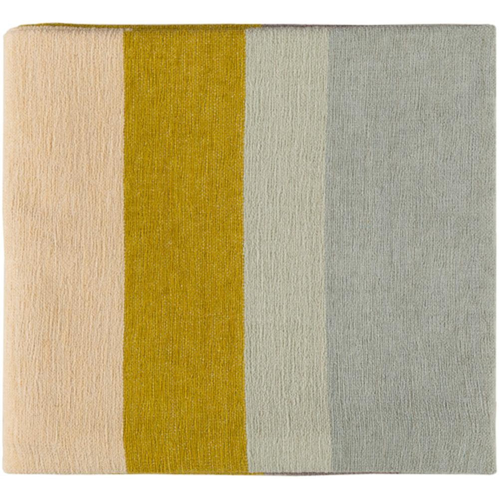 Meadowlark 50 x 70 Chenille Cotton Modern Throw Blanket-Home - Accessories - Throw Blankets-SURYA-Mustard-Peccadilly