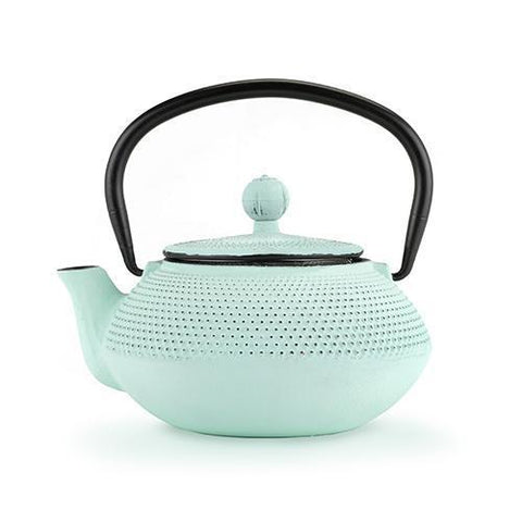 Miko Light Blue Mint Cast Iron Teapot