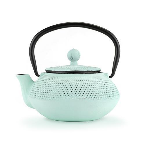 Miko Light Blue Mint Cast Iron Teapot-Home - Coffee + Tea - Tea Pots + Kettles-PINKY UP-Peccadilly