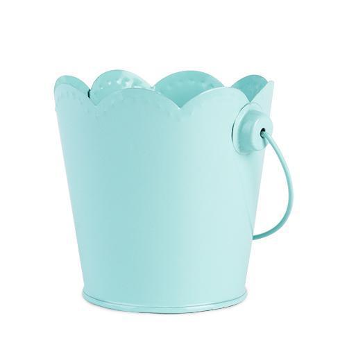 Set of 4 Scalloped Edge Metal Food Safe Pails-Home - Party Supplies - Party Decoration-CAKEWALK-Mint-Peccadilly