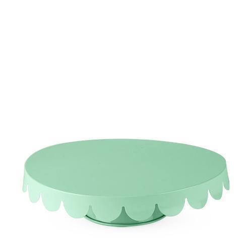 Low Metal Scalloped Cake Stand-Home - Party Supplies - Dessert Display-CAKEWALK-Mint-Peccadilly