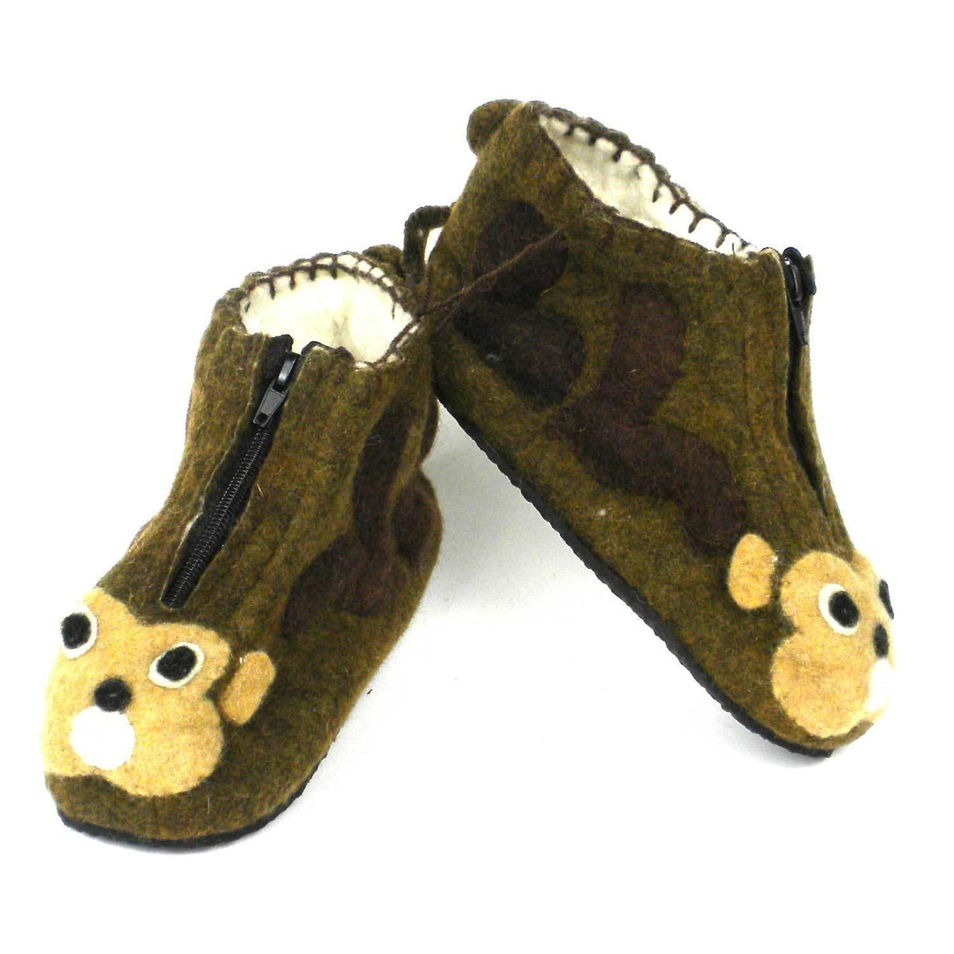 Monkey Kid Zooties Age 4-5-Kids - Apparel - Slippers-SILK ROAD BAZAAR FAIR TRADE-Peccadilly