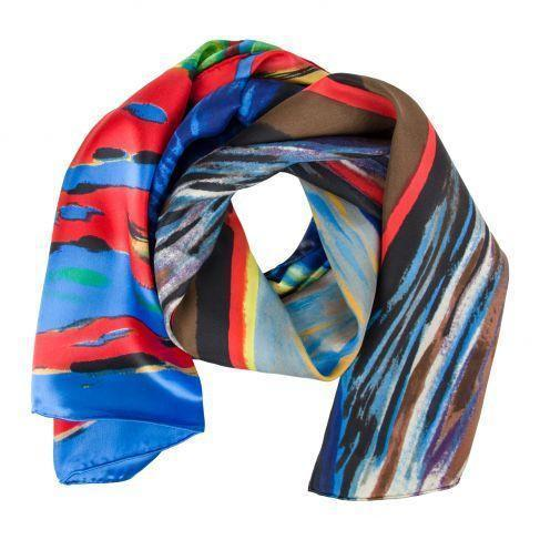 Munch the Scream Silk Scarf-Women - Accessories - Silk Scarves-ROSBERG-Peccadilly