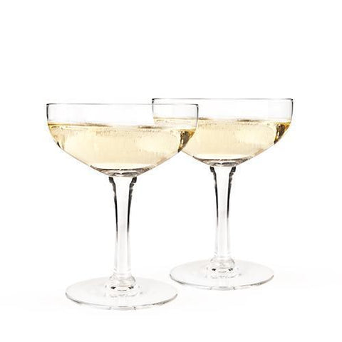 Old Kentucky Home Glass Champagne Coupe Set
