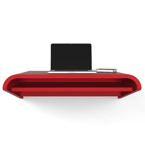 Orange Red Minimal Floating Wall Desk in 36