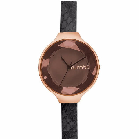 Orchard Gem Exotic Watch by in Black Diamond & Rose Gold