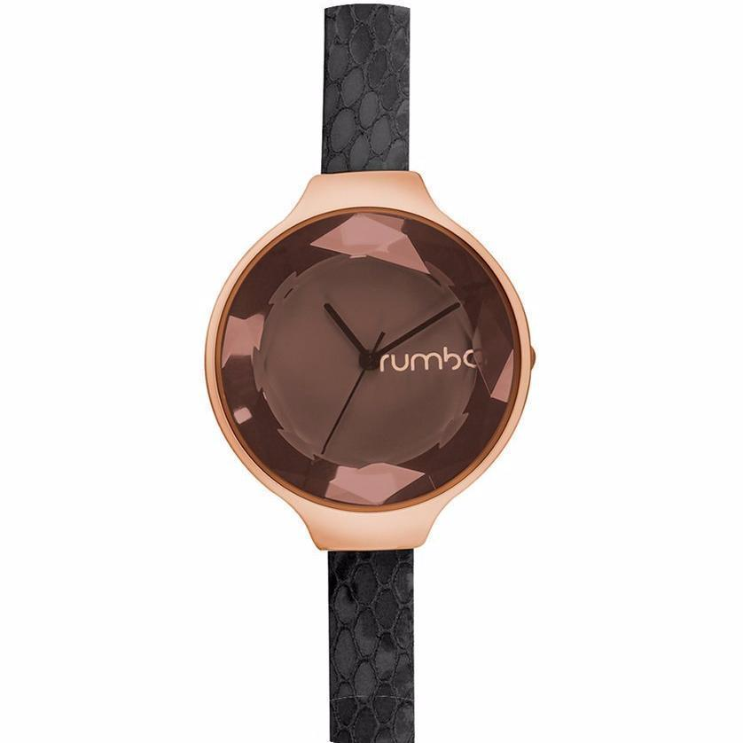 Orchard Gem Exotic Watch by in Black Diamond & Rose Gold-Women - Accessories - Watches-RUMBATIME-Peccadilly