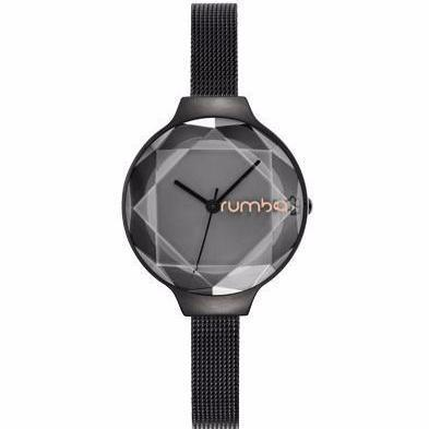 Orchard Gem Mesh Watch-Women - Accessories - Watches-RUMBATIME-Black Diamond-Peccadilly