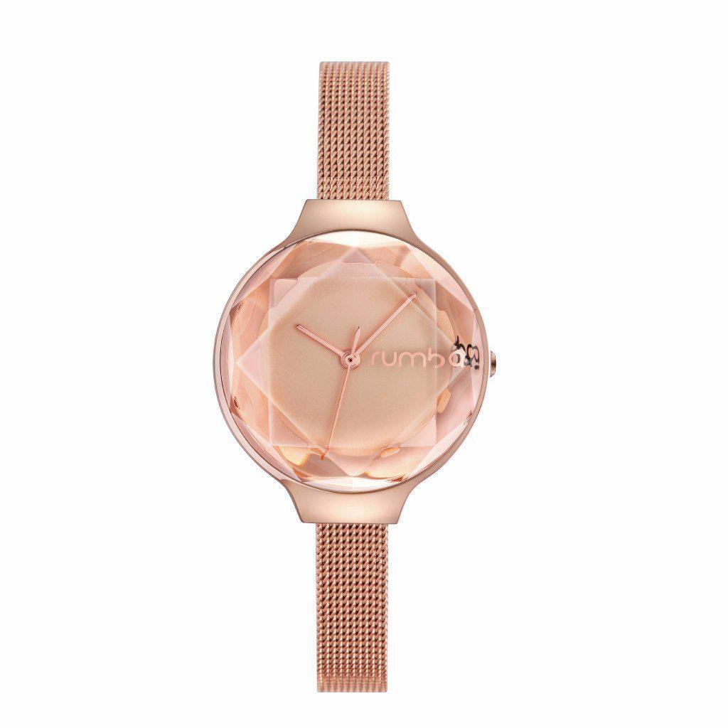 Orchard Gem Mesh Watch-Women - Accessories - Watches-RUMBATIME-Rose Gold-Peccadilly