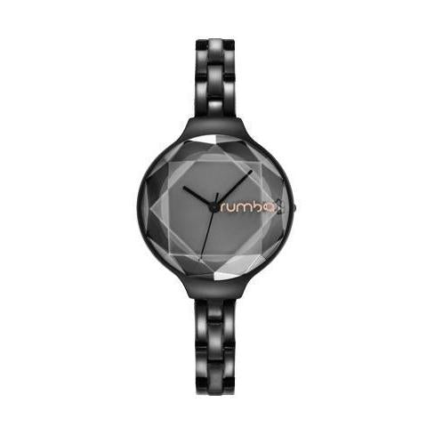Orchard Gem Stainless Steel Watch in Black-Women - Accessories - Watches-RUMBATIME-Peccadilly
