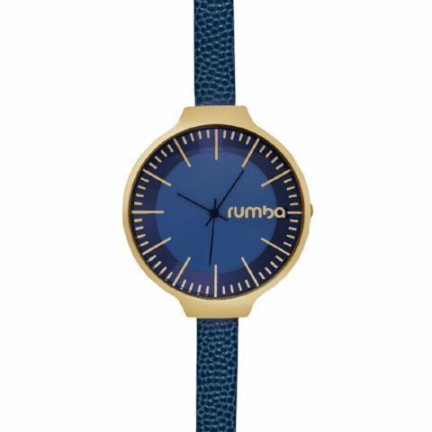 Orchard Leather Watch in Midnight Blue & Yellow Gold