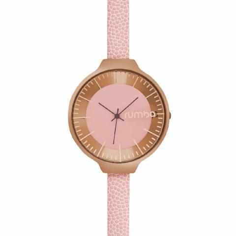 Orchard Leather Watch in Rose Pink & Rose Gold