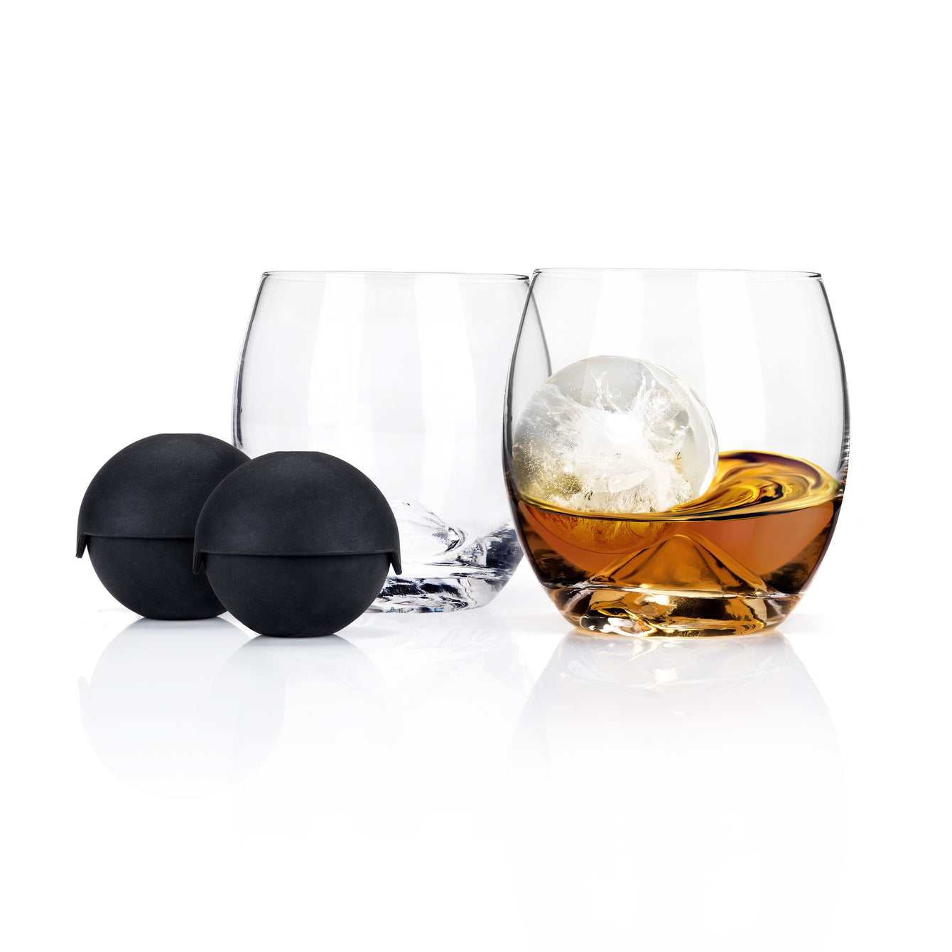 Ice Ball Mold and Lead-Free Crystal Tumbler Set of 2-Home - Entertaining - Chilling Cubes Sets-VISKI-Peccadilly