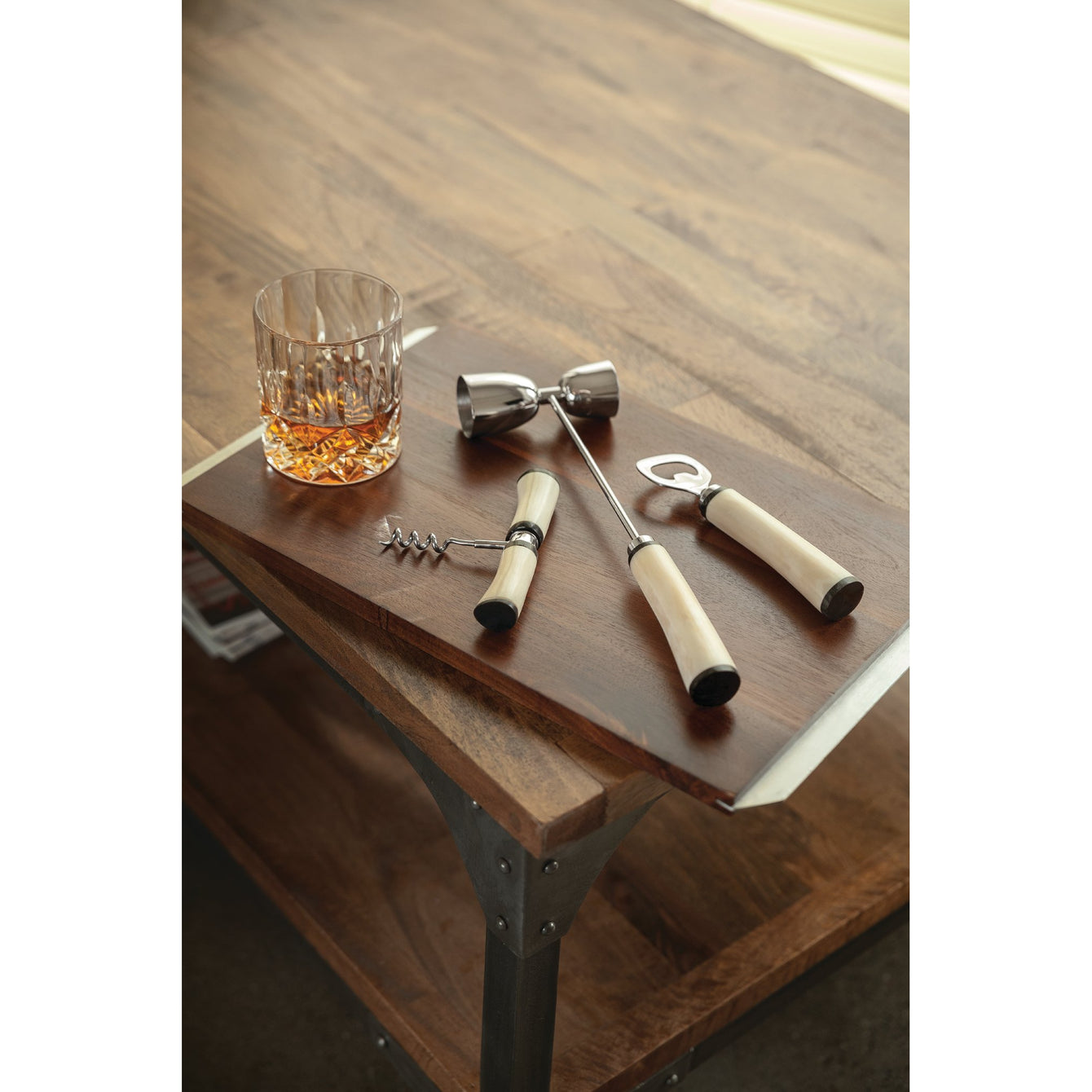 Admiral Three Piece Bone and Stainless Steel Bar Set-Home - Entertaining - Mixologist Tools-VISKI-Peccadilly