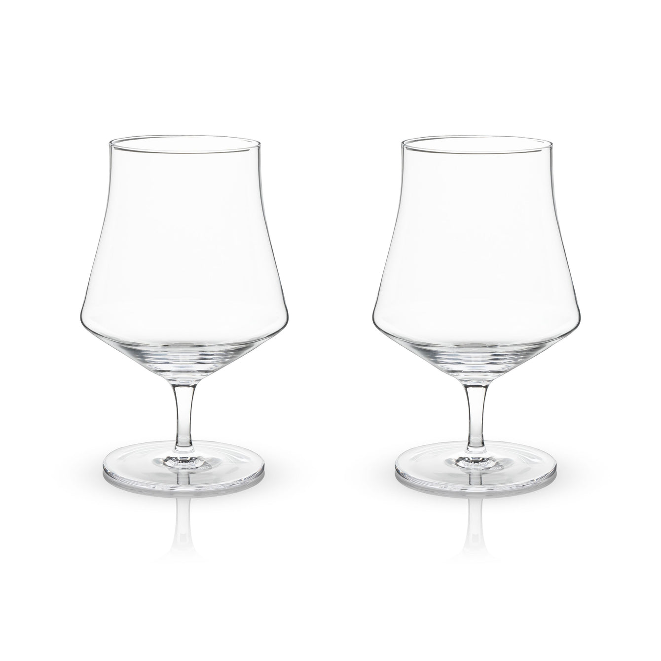 Raye Lead Free Crystal Stemware and Bar Glass Collection-Home - Entertaining - Beer Glasses Sets-VISKI-Set of 2 Beer Goblet Glasses-Peccadilly