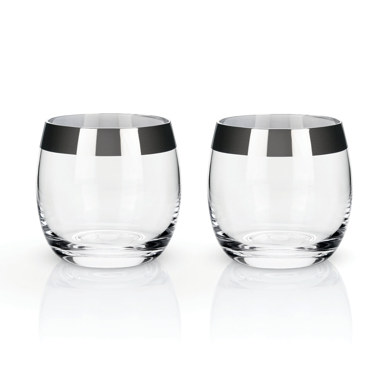 Metallic Rim Crystal Tumblers Set of 2-Home - Entertaining - Tumblers Sets-VISKI-Bronze-Peccadilly