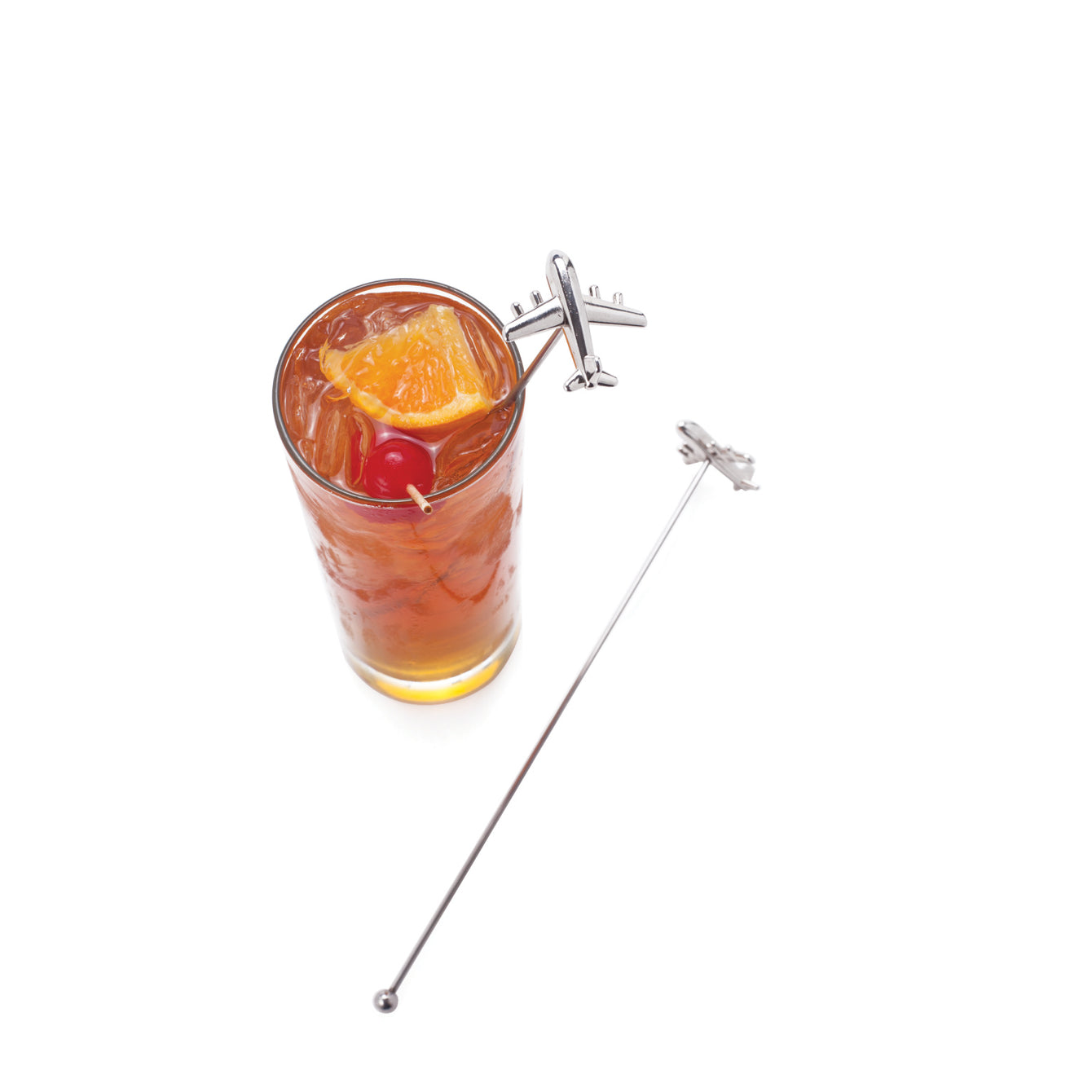 Irving Stainless Steel Airplane Stir Sticks-Home - Entertaining - Stir Sticks-VISKI-Peccadilly