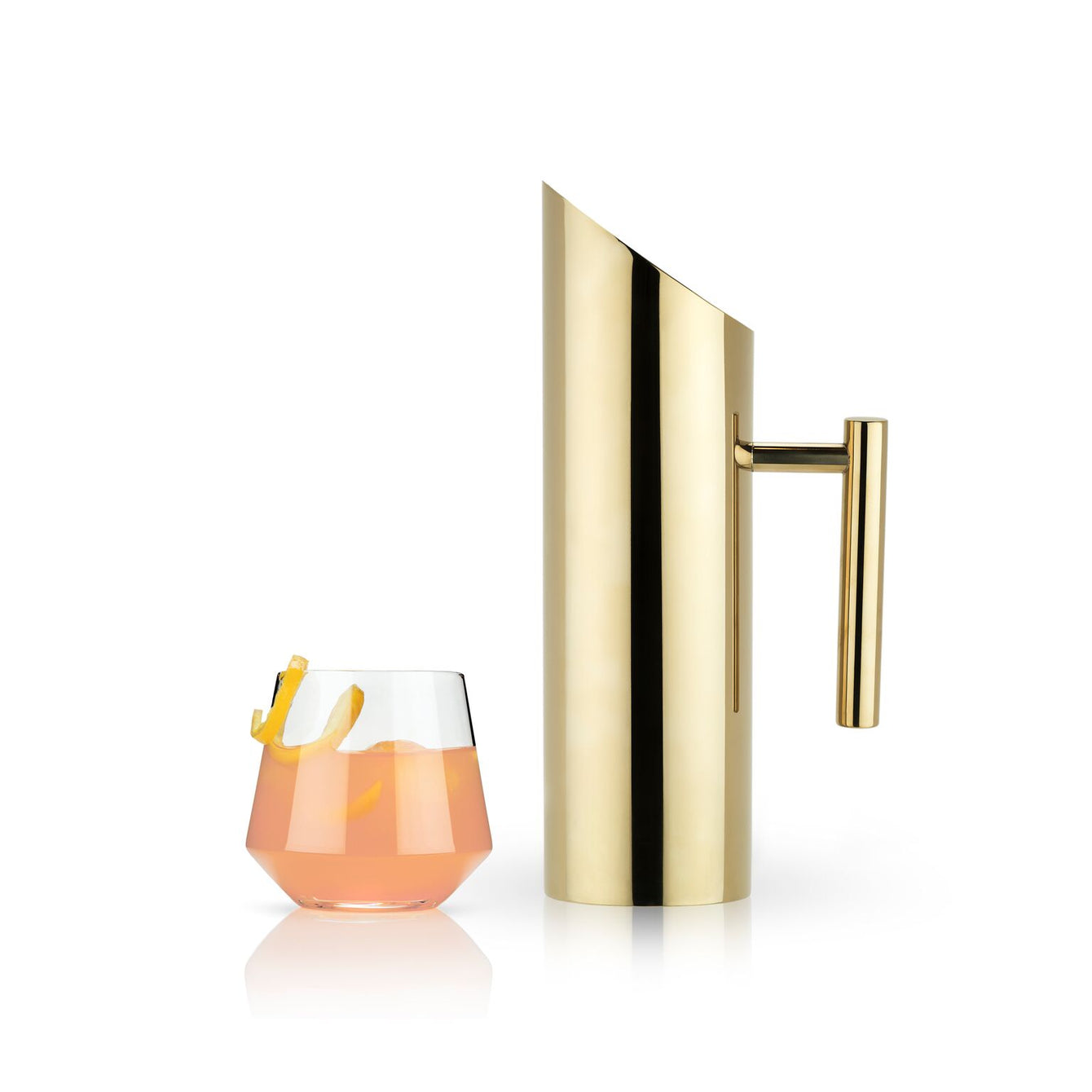 Belmont Modern Gold Beverage Pitcher-Home - Entertaining - Pitchers - Holiday-VISKI-Peccadilly