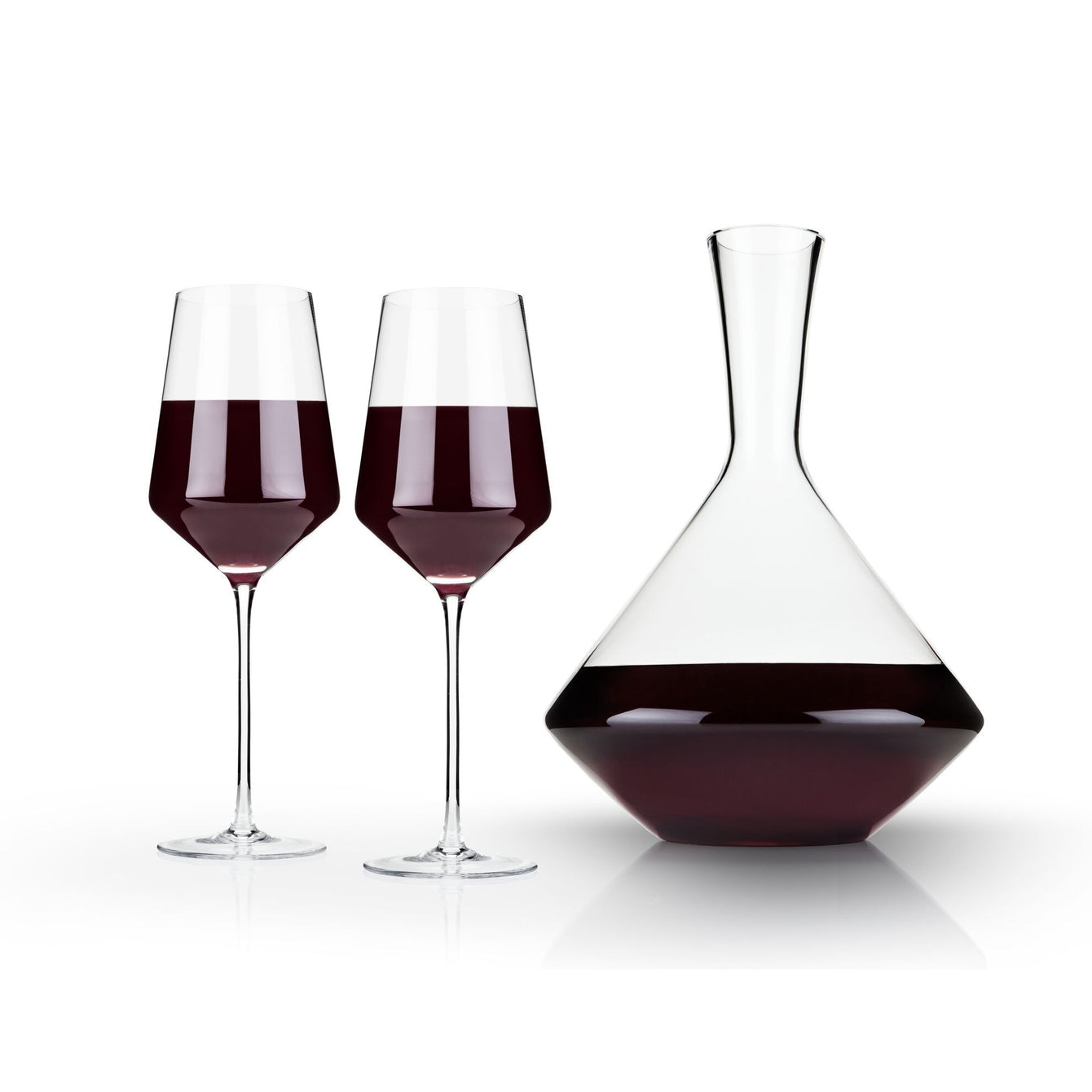 Raye Crystal Bordeaux Wine Gift Set of 3-Home - Entertaining - Wine Glasses Sets-VISKI-Peccadilly