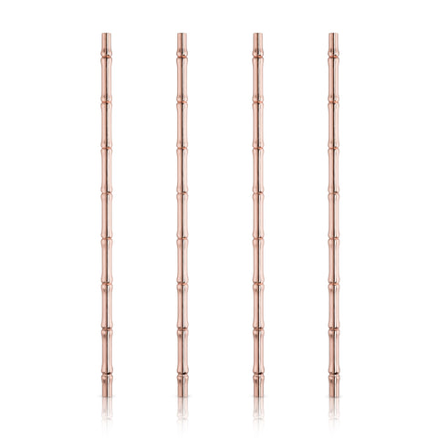 Pacific Copper Bamboo Straws Set of 4