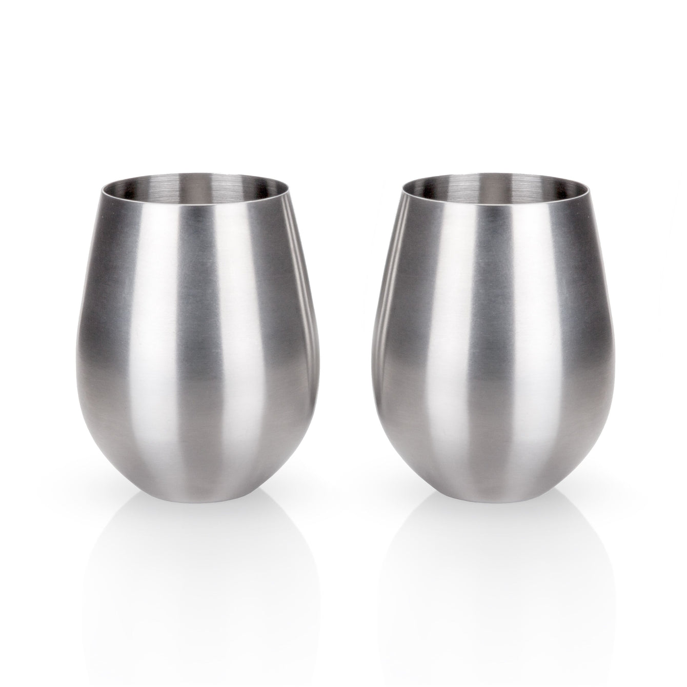 Admiral Stainless Steel Tumblers Set-Home - Entertaining - Cocktail Glasses Sets-VISKI-Peccadilly