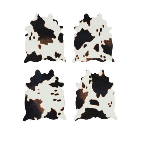 Saddle Up Faux Cowhide Coaster Set