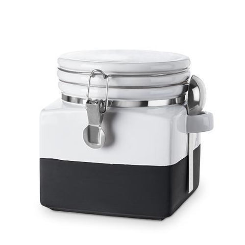 Pantry Chalk Dipped Extra Small Ceramic Canister