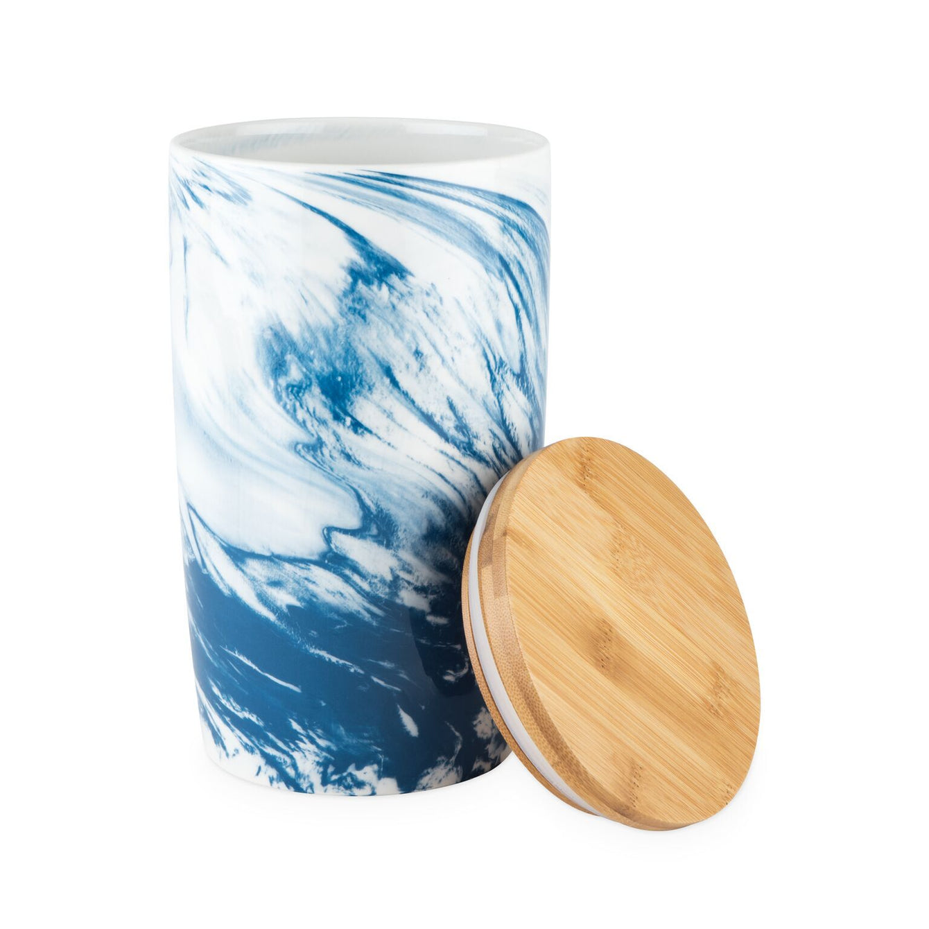 Pantry Medium Marbled Ceramic Canister-Home - Kitchen + Bathroom - Canisters + Jars-TWINE-Peccadilly